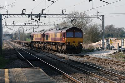 66 050 & 66 166 at Acton Bridge on 2nd April 2007
