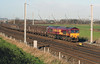 66 210 at Winwick Junction on 16th December 2005 (2)