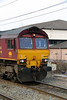 2) 66 002 at Warrington Bank Quay on 10th April 2013 working 6K05 1218 Carlisle Yard to Basford Hall Yard