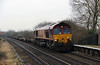 66 037 at Tamworth High Level on 21st January 2015 (2)