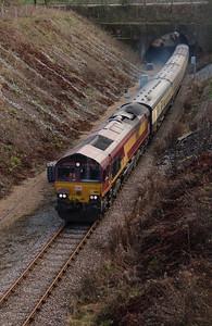 3) 66 182 Between Frodsham Junction & Halton Junction on 14th January 2017