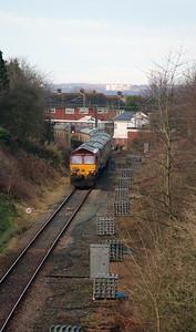 3) 66 056 Between Frodsham Junction & Halton Junction on 14th January 2017