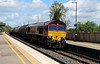 66 030 at Tamworth High Level on 13th May 2013 working 6M57 0752 Lindsey to Kingsbury