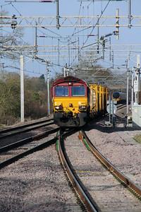 66 127 at Acton Bridge on 24th February 2015