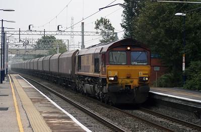66 168 at Acton Bridge on 3rd October 2007