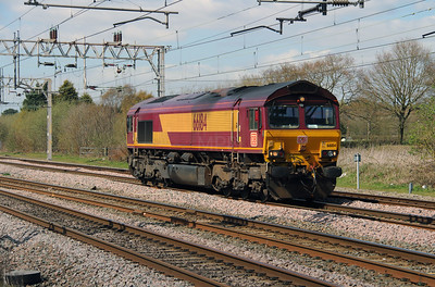 66 184 at Acton Bridge on 19th April 2016