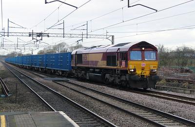 66 156 at Acton Bridge on 4th January 2017