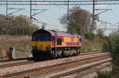 66184 at Acton Bridge on 19th April 2016
