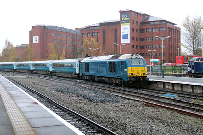 67001 at Chester on 29th October 2015