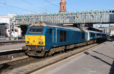 67 001 at Manchester Oxford Road on 6th April 2015 working 1D31 (9)