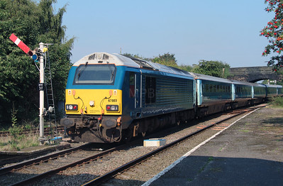 67 003 at Helsby on 14th September 2016