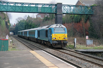 67 001 at Frodsham on 23rd January 2015 (2)