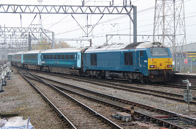 67 001 at Crewe on 4th November 2015