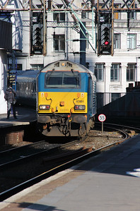 67 001 at Manchester Oxford Road on 6th April 2015 working 1D31 (1)