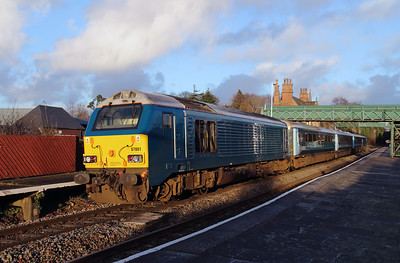 67 001 at Frodsham on 6th January 2015 (2)