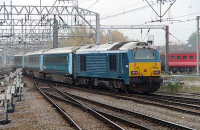67001 at Crewe on 4th November 2015