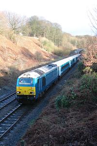67 001 at Norton (Runcorn) on 16th January 2015 (3)