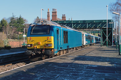 67 001 at Frodsham on 6th February 2015 (2)