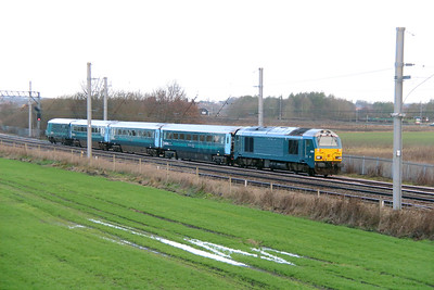 67 001 at Winwick Junction on 19th December 2014 (6)