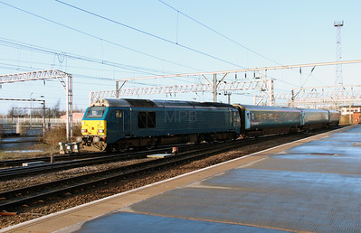 1) 67 002 at Crewe on 31st December 2013