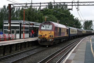 67 001 at Runcorn on 19th July 2015
