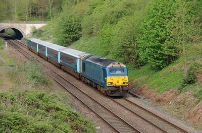 67 001 at (Norton) Runcorn on 7th May 2015 (2)
