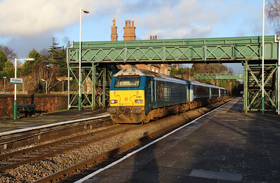 67 001 at Frodsham on 6th January 2015 (4)