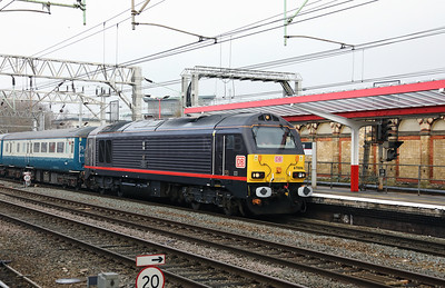 2) 67 006 at Crewe on 4th March 2018