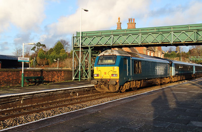 67 001 at Frodsham on 6th January 2015 (6)