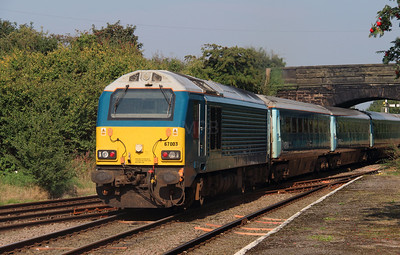 67003 at Helsby on 14th September 2016