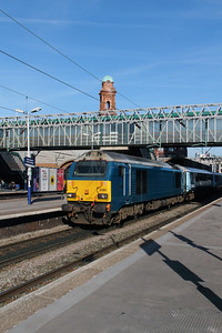 67 001 at Manchester Oxford Road on 6th April 2015 working 1D31 (4)