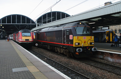 2) 67 005 at Newcastle on 15th October 2016