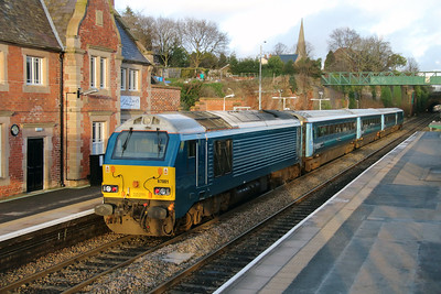 67 001 at Frodsham on 6th January 2015 (9)