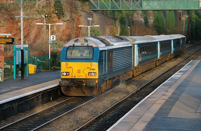 67 001 at Frodsham on 6th January 2015 (12)