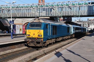 67 001 at Manchester Oxford Road on 6th April 2015 working 1D31 (6)