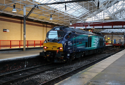 68 001 at Crewe on 15th February 2017
