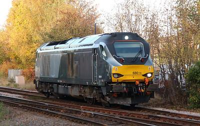 2) 68 014 at Stourbridge Junction on 2nd November 2016