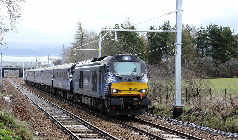 68 006 at West Calder on 18th April 2018