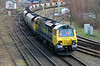 3) 70 004 at Warrington Arpley Junction on 26th February 2014