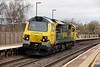 2) 70 003 at Tamworth High Level on 22nd April 2013 working 0Z96 1205 Basford Hall to Toton Yard