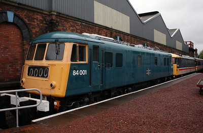 84 001 at Barrow Hill Museum on 30th June 2007