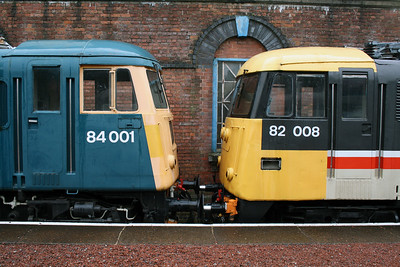 84 001 & 82 008 at Barrow Hill Museum on 30th June 2007