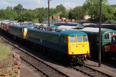 1) 85 006 at Barrow Hill on 1st June 2014