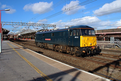 2) 86 101 at Crewe on 2nd March 2015 working 0Z87\