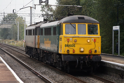 86 605 at Acton Bridge on 3rd October 2007