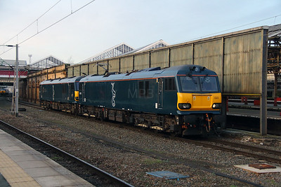 92 023 at Crewe on 27th December 2016