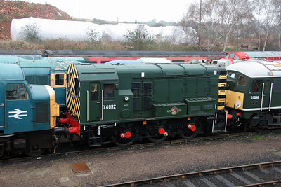D4092 at Barrow Hill on 3rd April 2016