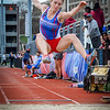 UMass Lowell's Andrea Fanciullo competing in long jump. SUN/Caley McGuane