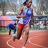 UMass Lowell's Chelsea Owusu competing in 4x100 Relay. SUN/Caley McGuane