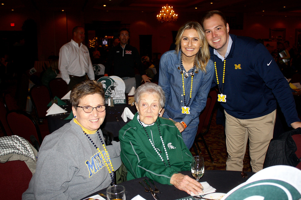 . Hundreds of Downriver residents gathered at Crystal Gardens in Southgate on Wednesday for the state\'s largest indoor tailgate party. Photo by Constance York